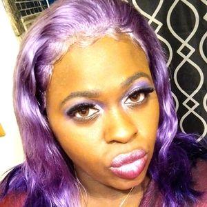 Purple lace front wigs